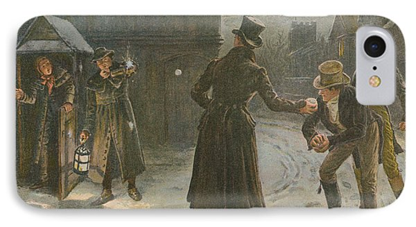 Snowballing The Watchmen IPhone Case by George Goodwin Kilburne