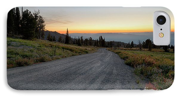 Snowbank Mountain Road IPhone Case