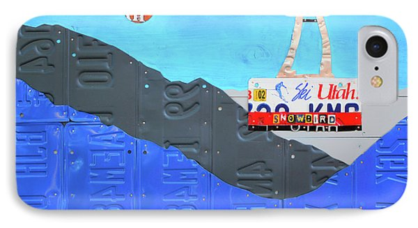 Snowbird Ski Resort Lift Utah License Plate Art IPhone Case