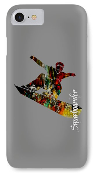 Snowboarder Collection IPhone Case by Marvin Blaine