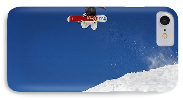 Snowboarder In Serre Chevalier France Phone Case by Pierre Leclerc Photography