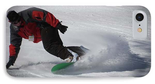 IPhone 7 Case featuring the photograph Snowboarder On Mccauley by David Patterson