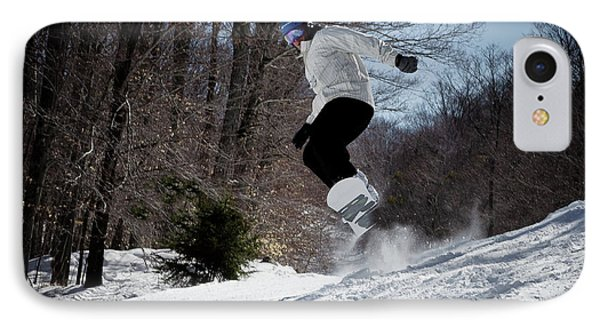 IPhone 7 Case featuring the photograph Snowboarding Mccauley Mountain by David Patterson