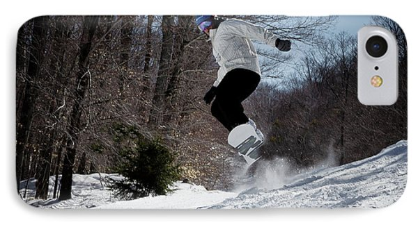 IPhone Case featuring the photograph Snowboarding Mccauley Mountain by David Patterson