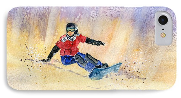 Snowboarding IPhone Case by Melly Terpening