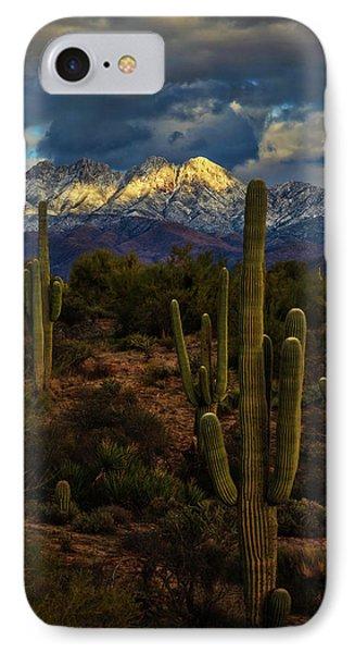 Snowcapped Four Peaks IPhone Case