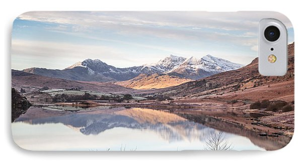 Snowdon Horseshoe Winter Reflections IPhone Case by Christine Smart