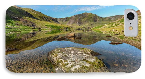 IPhone Case featuring the photograph Snowdonia Mountain Reflections by Adrian Evans