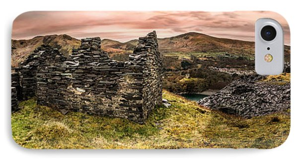 Snowdonia Ruins Panorama IPhone Case