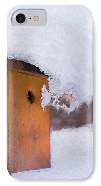 IPhone Case featuring the photograph Snowdrift On The Bluebird House by Gary Slawsky