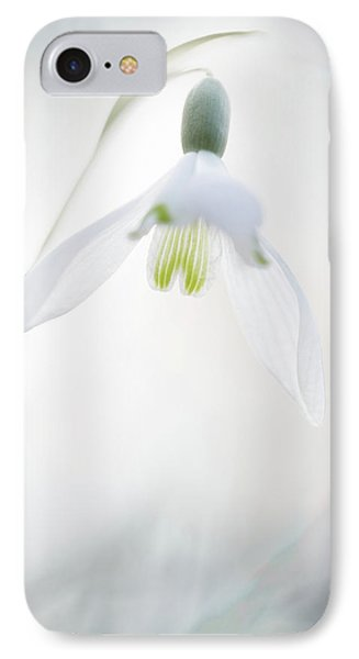 IPhone Case featuring the photograph Snowdrop A Fragile Hint Of Spring by Dirk Ercken