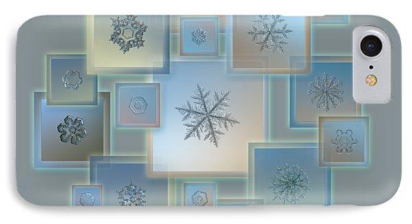 Snowflake Collage - Bright Crystals 2012-2014 IPhone Case by Alexey Kljatov
