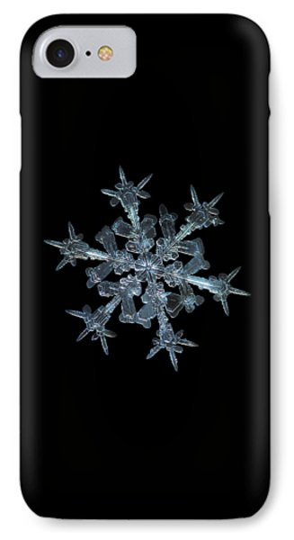 Snowflake Photo - Starlight Phone Case by Alexey Kljatov