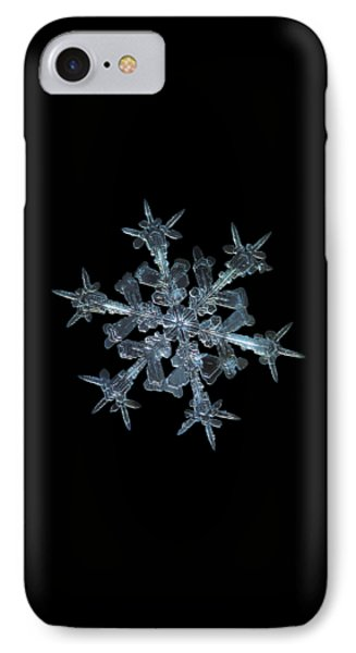 IPhone Case featuring the photograph Snowflake Photo - Starlight by Alexey Kljatov