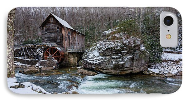 Snowing At The Mill  IPhone Case by Steve Hurt
