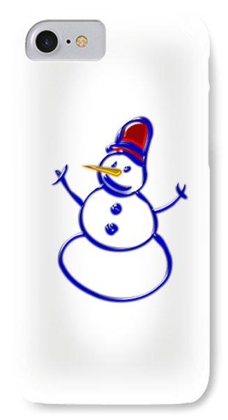 Snowman IPhone Case by Anastasiya Malakhova