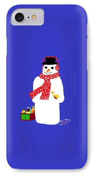 IPhone Case featuring the digital art Snowman by Barbara Moignard
