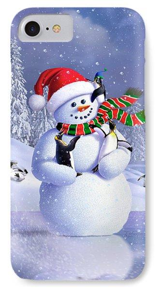 Penguin iPhone 7 Case - Snowman by Jerry LoFaro