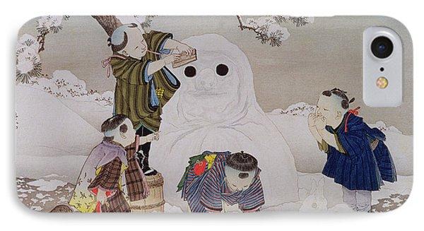 Snowman IPhone Case by Kobayashi Eitaku