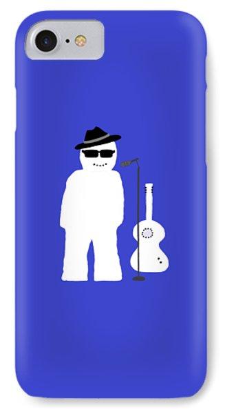 IPhone Case featuring the digital art Snowman Musician by Barbara Moignard