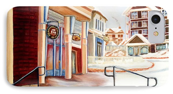 Snowshoe Village Shops IPhone Case by Shelia Kempf