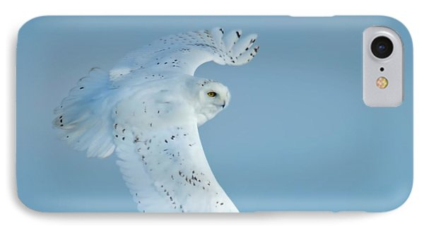 Snowy Against Blue Sky IPhone Case by CR  Courson