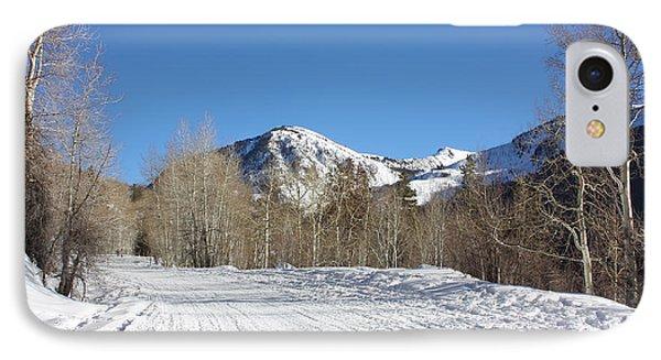 Snowy Aspen IPhone Case by Kim Hojnacki