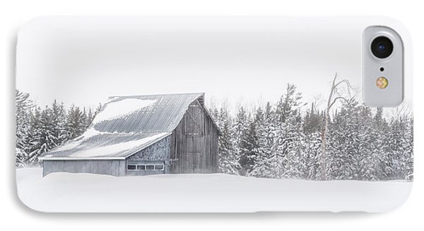 IPhone Case featuring the photograph Snowy Barn by Dan Traun
