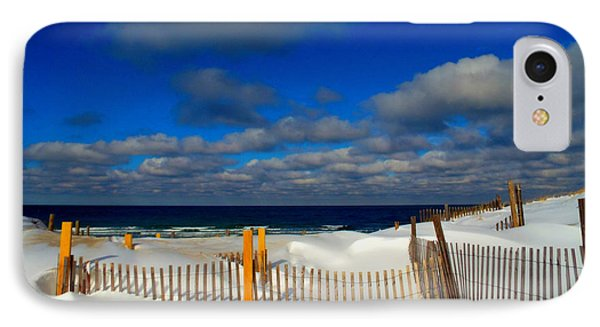 Snowy Beach  IPhone Case by Dianne Cowen