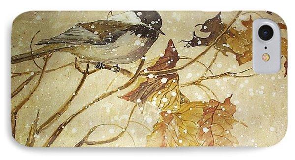 Snowy Bird IPhone Case by Darren Cannell