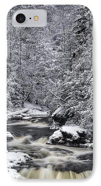 Snowy Blackwater IPhone Case