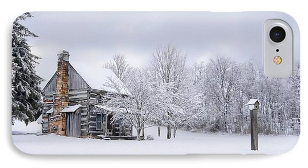 Snowy Cabin Phone Case by Benanne Stiens