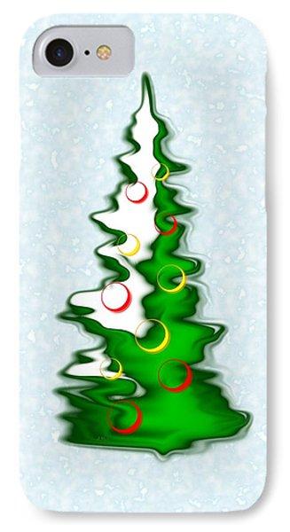 Snowy Christmas Tree IPhone Case