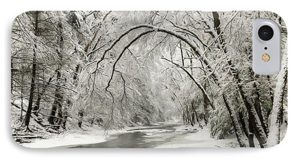 Snowy Clarks Creek IPhone Case by Lori Deiter