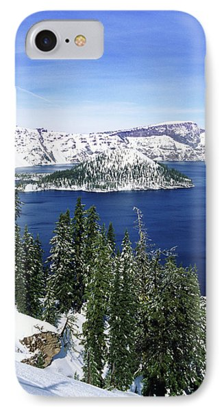 Snowy Crater Lake IPhone Case