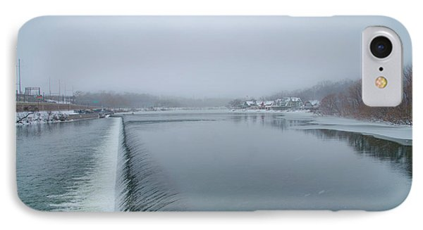 Snowy Day At Boathouse Row IPhone Case by Bill Cannon