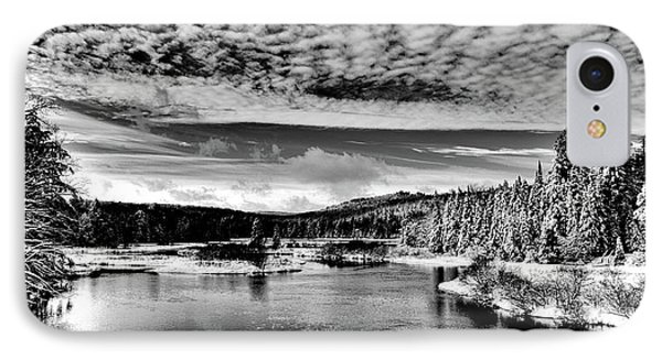 Snowy Day At The Green Bridge IPhone 7 Case by David Patterson