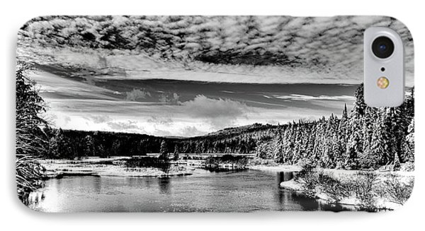 Snowy Day At The Green Bridge IPhone Case by David Patterson