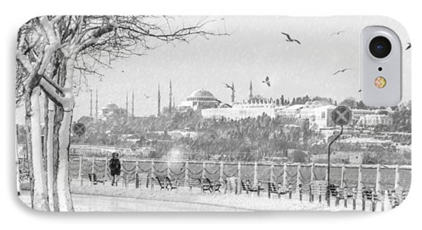 Snowy Day In Istanbul IPhone Case