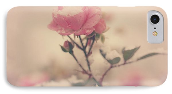 Snowy Day Of Roses IPhone Case