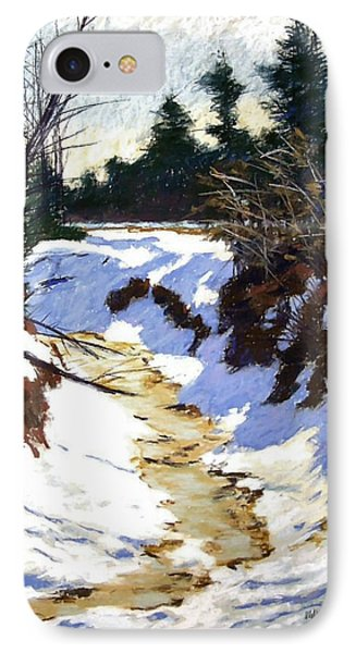 Snowy Ditch Phone Case by Mary McInnis
