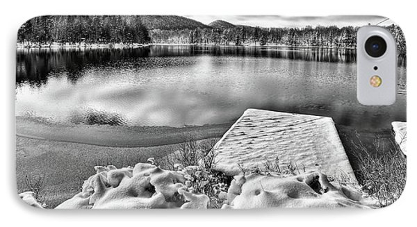 IPhone Case featuring the photograph Snowy Dock by David Patterson