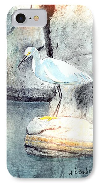 Snowy Egret IPhone Case by Arline Wagner