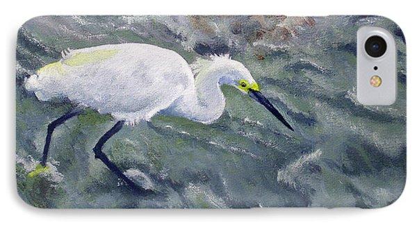 Snowy Egret Near Jetty Rock Phone Case by Adam Johnson