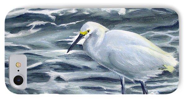 Snowy Egret On Jetty Rock IPhone Case
