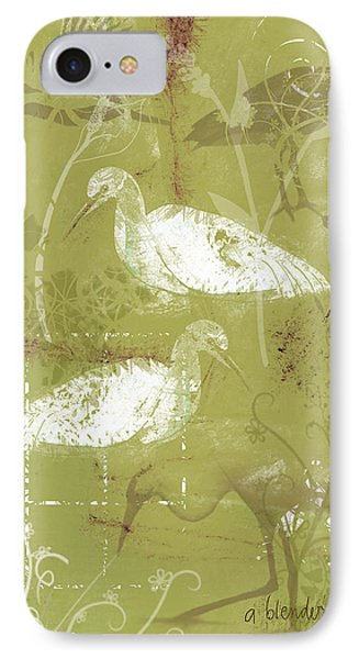 Snowy Egrets IPhone Case by Arline Wagner