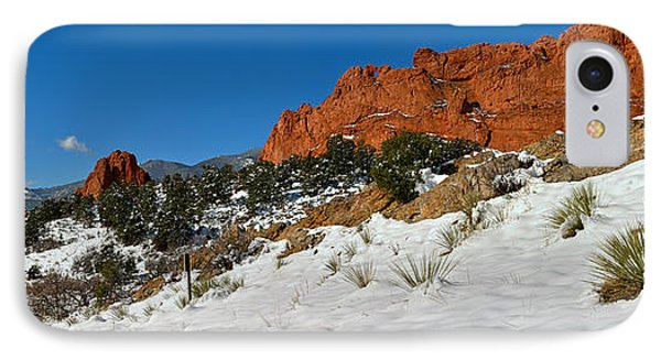 IPhone Case featuring the photograph Snowy Fields At Garden Of The Gods by Adam Jewell