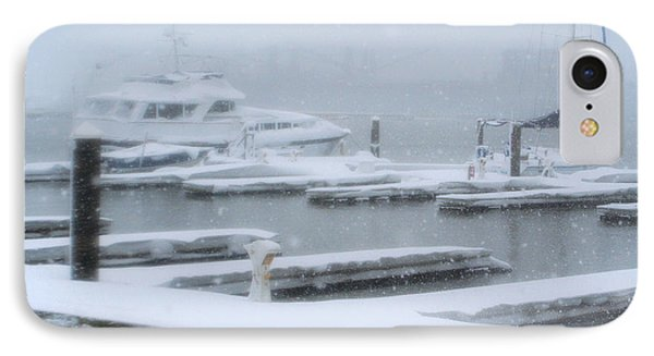 Snowy Harbor IPhone Case by Ania M Milo