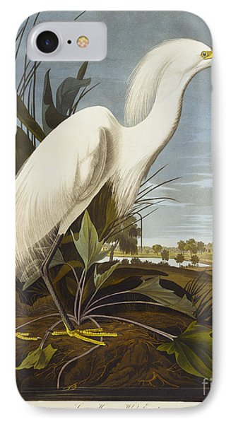 Heron iPhone 7 Case - Snowy Heron by John James Audubon