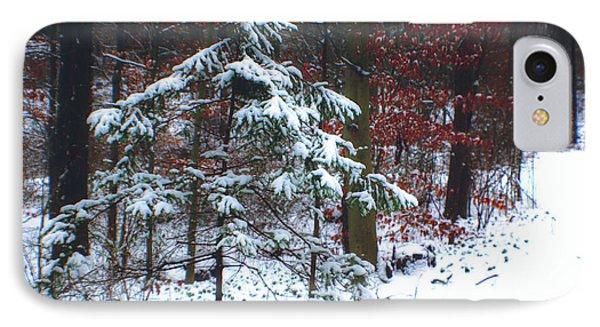 Snowy Little Fir IPhone Case by Sandy Moulder